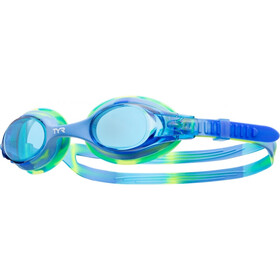 TYR Swimple Tie Dye Goggles Kinderen, blue/blue/green